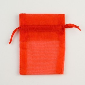 Small Red Organza Favour Bag