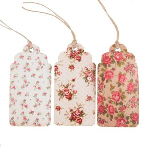 Vintage Floral Luggage Tags