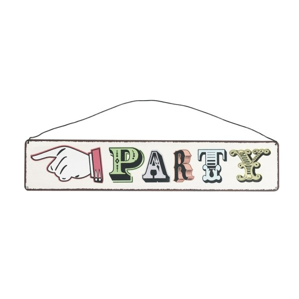Vintage Metal Party Sign
