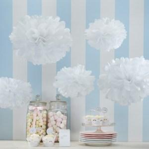 White Pom Pom Set