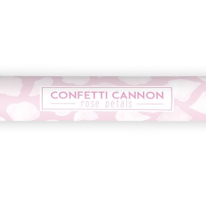 White Rose Petal Confetti Cannon