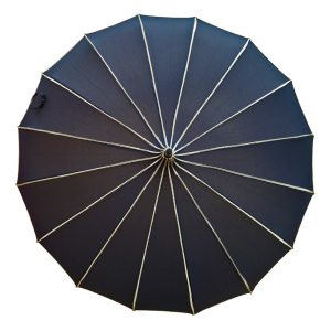 Ribbed Navy Pagoda Umbrella