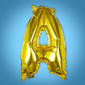Gold Foil Letter 'A' Balloon