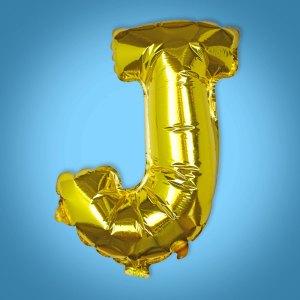 Gold Foil Letter 'J' Balloon