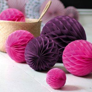 Pink 30cm Honeycomb Ball
