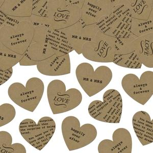 Kraft Heart Table Confetti