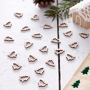 Wooden Tree Shaped Table Confetti