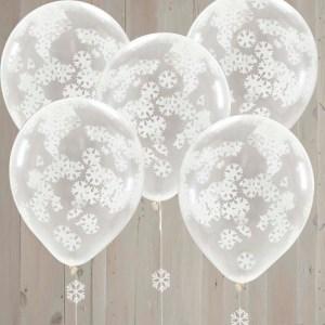 Snowflake Shaped Confetti Balloons