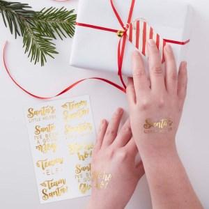 Gold Foiled Festive Tattoos