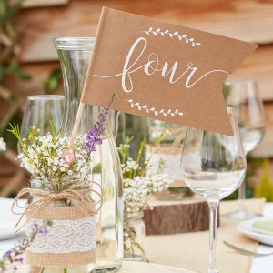 Rustic Table Number Flags 1-12