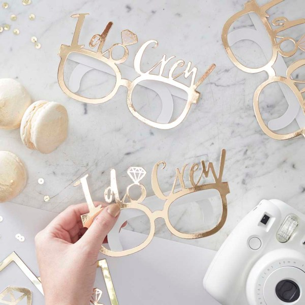Gold Foiled I Do Crew Fun Glasses