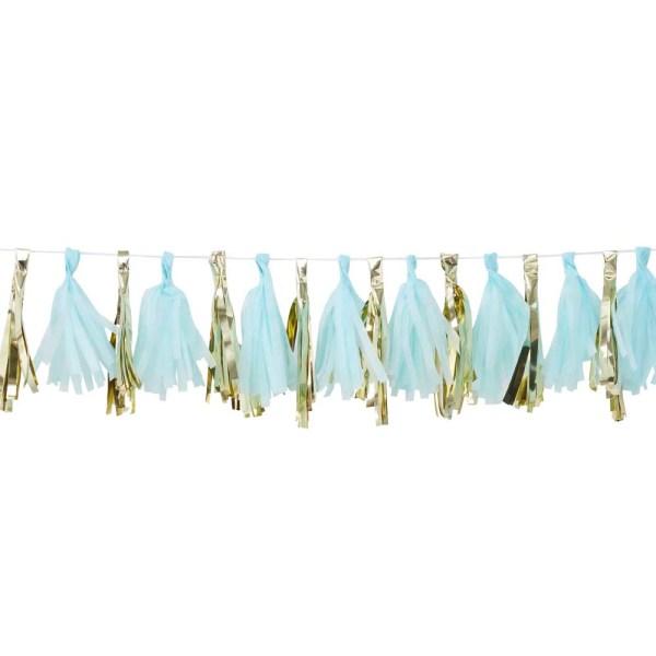 Blue And Gold Tassel Garland