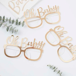 Gold Foiled Oh Baby! Fun Glasses