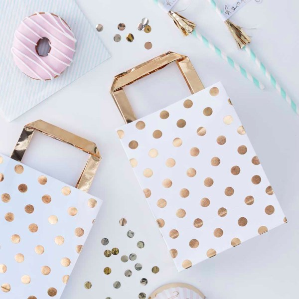 Gold Polka Dot Party Bags