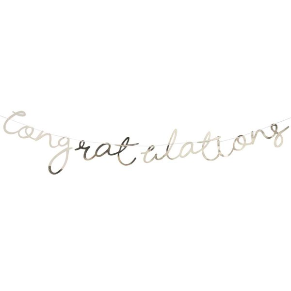 Gold Congratulations Bunting
