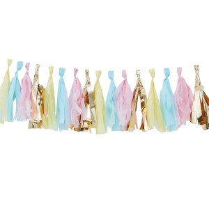Pastel And Gold Tassel Garland Kit