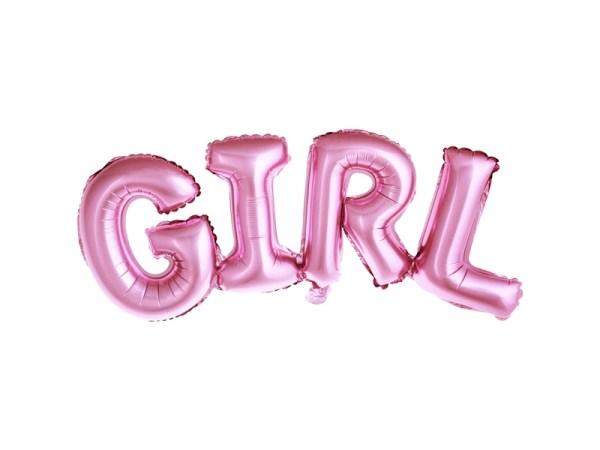 Pink Foiled Girl Balloon