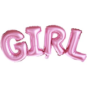 Pink Foiled Girl Balloon