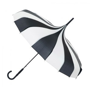 Classic Black and Cream Pagoda Umbrella