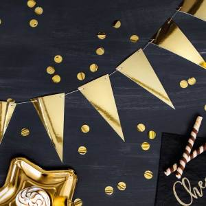 Metallic Gold Bunting Kit