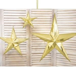 Large Gold Paper Star 70cm