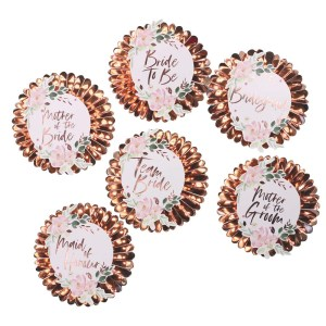 Floral Team Bride Hen Party Badges