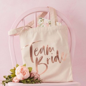 Team Bride Printed Tote Bag