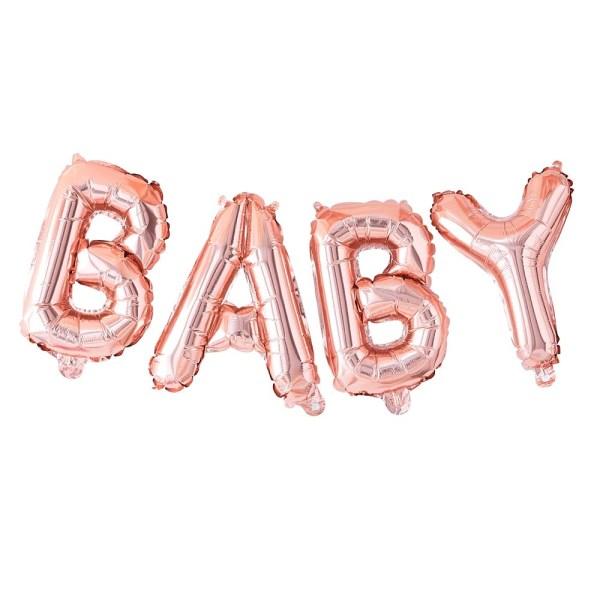 Rose Gold Baby Balloon Bunting