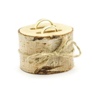 Rustic Wooden Ring Bearer