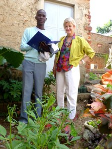 Rosalind Hackett with Olel Emmy Wokorach, founder of the Gulu Peace Garden Project, in Gulu, northern Uganda. Hackett said she dreams of bringing Wokorach to UT to study public horticulture and then help him create a botanical garden in this war-affected region of Uganda.