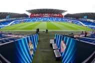 CARDIFF, WALES - Monday, August 11, 2014: Cardiff City's stadium prepares for the UEFA Super Cup. (Pic by David Rawcliffe/Propaganda)