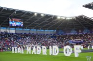 CARDIFF, WALES - Tuesday, August 12, 2014: The opening ceremony ahead of the UEFA Super Cup at the Cardiff City Stadium. (Pic by David Rawcliffe/Propaganda)