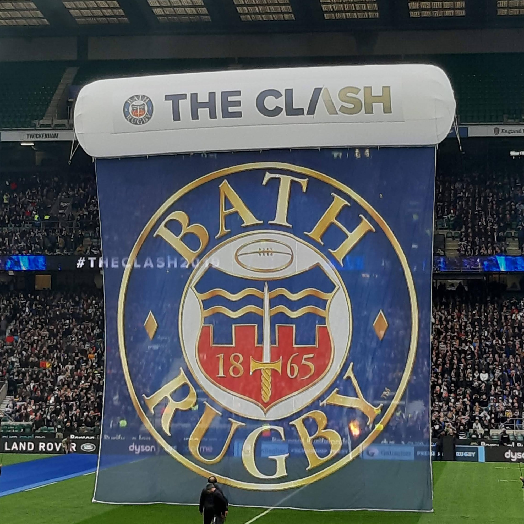 Bath Rugby banner at The Clash