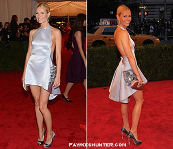 Standing out in a Minimalist Mini Prada at the Met Ball 2012