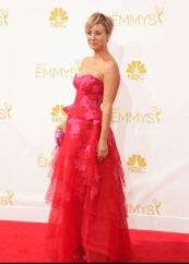 Kaley Cuoco Monique Lluhilier Emmys 2014