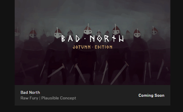 Bad North is now free on the Epic Games Store