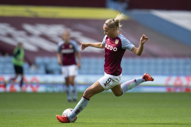 Aston Villa forward stars as Denmark net eight in Malta