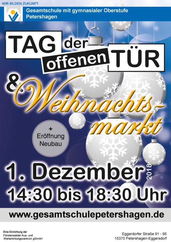 Weihnachtsmarkt Fürstenwalde.Weihnachtsmarkt Und Tag Der Offenen Tür Der Gesamtschule Petershagen