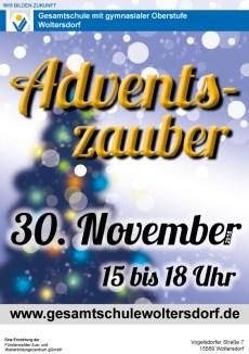 Gesamtschule Woltersdorf_Adventszauber am 30. November 2018_Plakat