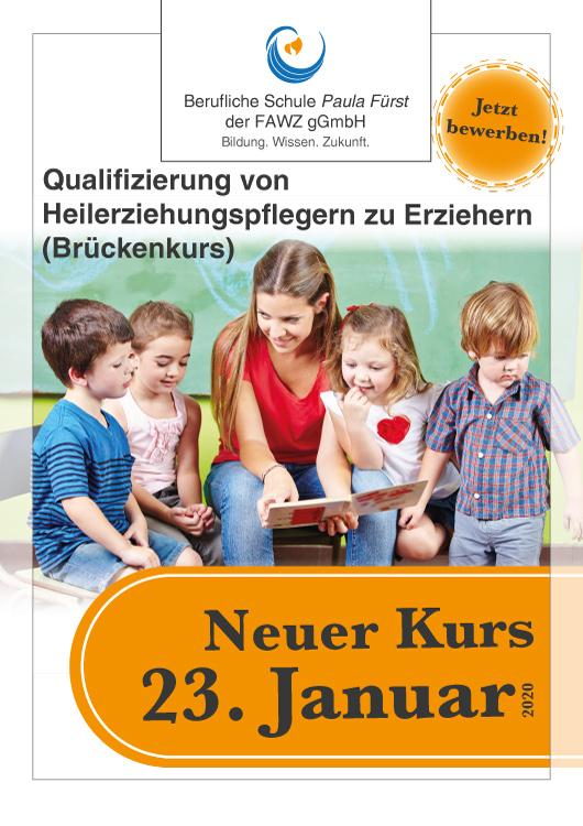 FAWZ_Qualifizierung vom Heilerziehungspfleger zum Erzieher_Brückenkurs_Neuer Kurs 23. Januar 2020