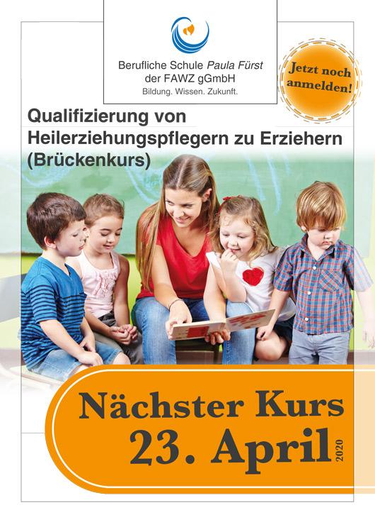 FAWZ_Qualifizierung vom Heilerziehungspfleger zum Erzieher_Brückenkurs_Nächster Kurs 23. April 2020