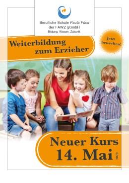 Berufliche Schule Paula Fürst der FAWZ gGmbH_Weiterbildung_Qualifizierung vom Heilerziehungspfleger zum Erzieher_Nächster Kurs 14. Mai 2020
