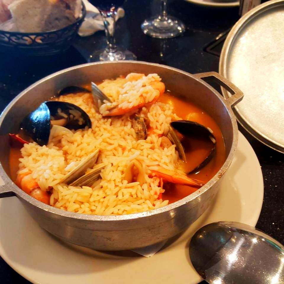Seafood in rice