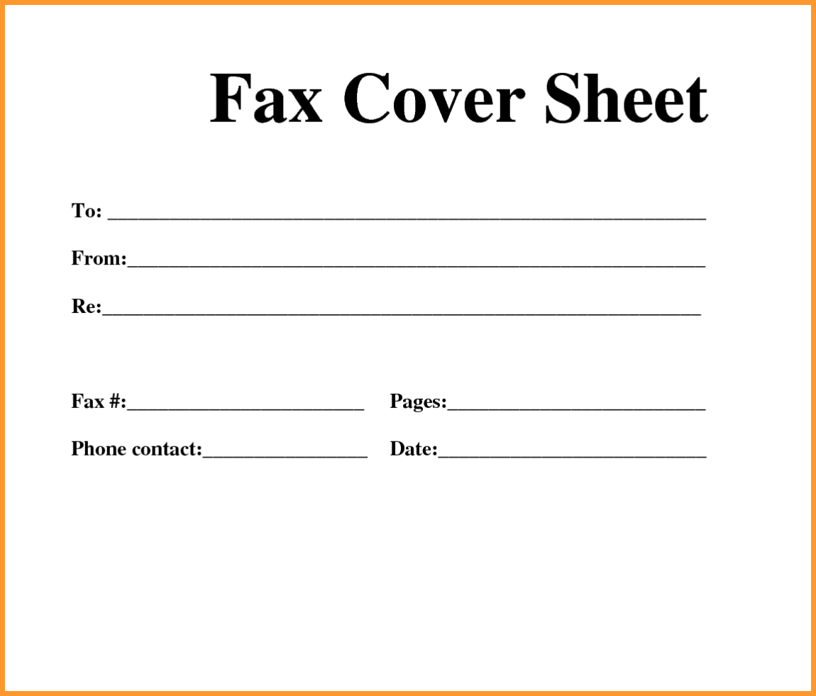 Standard Fax Cover Sheet Templates