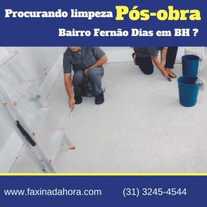 Limpeza Residencial Pós-Obra Fernão Dias BH-Belo Horizonte
