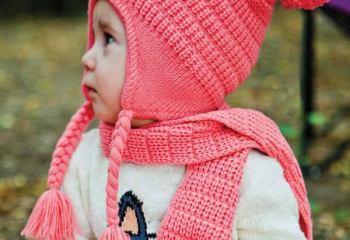 Bebekler için Örgü Atkı Bere Örnekleri
