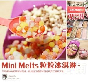 【快閃甜點舖】Mini Melts 粒粒冰淇淋,口感非常獨特,把握時間唷!(新光三越新天地)