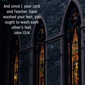 Wash each other's feet?