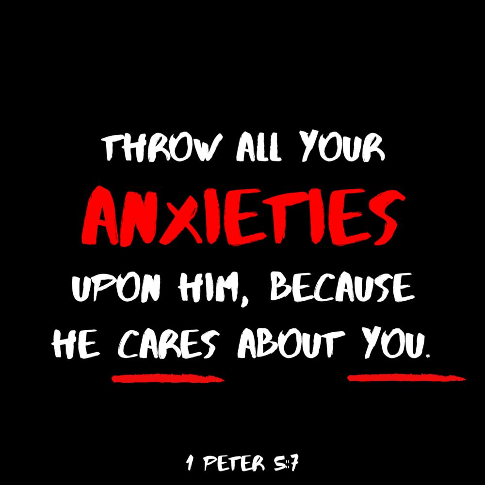 Throw your anxieties