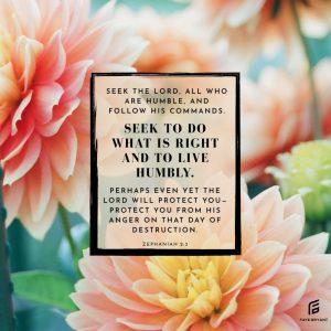 SEEK: God, righteousness, humility